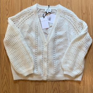Sezane dereck jumper sweater ecru NWT